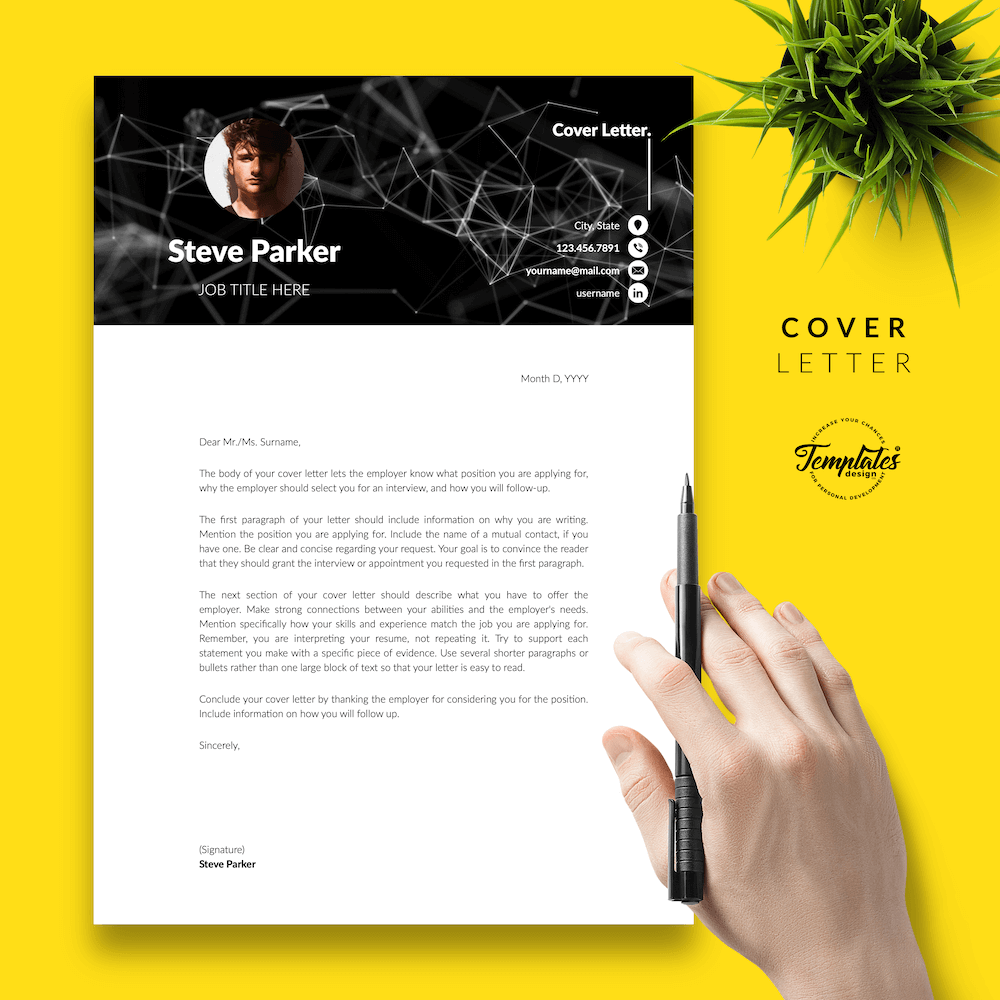 Resume CV for Entrepreneurs - Steve Parker 05 - Cover Letter - New version