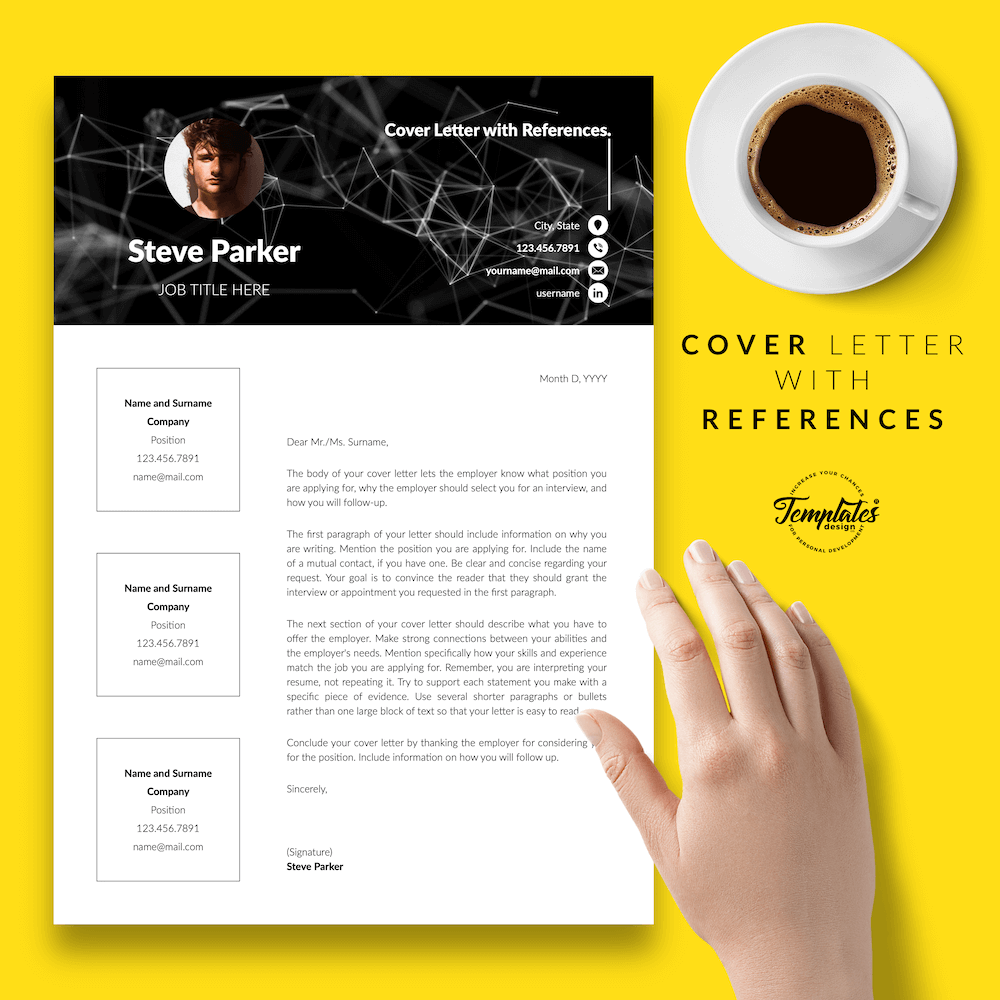 Resume CV for Entrepreneurs - Steve Parker 07 - Cover Letter with References - New version