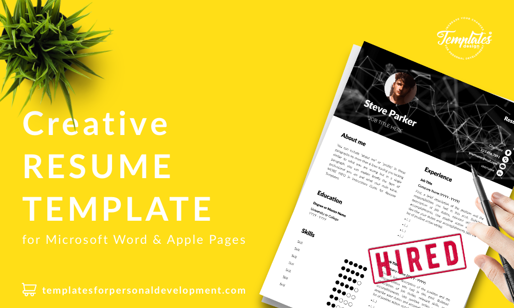 Resume CV Template : Steve Parker 22 - Post - New version