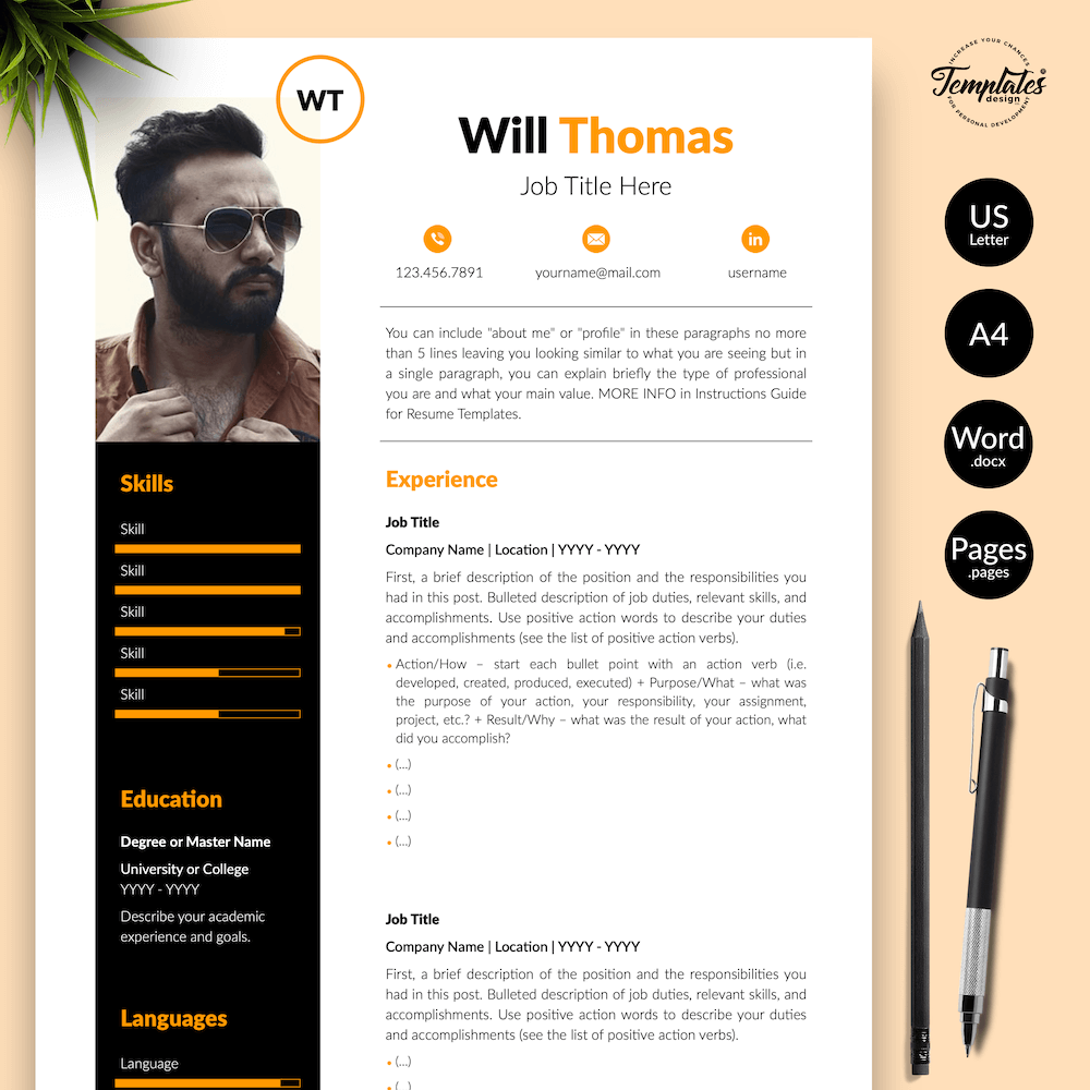 Resume CV for Health Coach - Will Thomas 01 - Presentation - New version