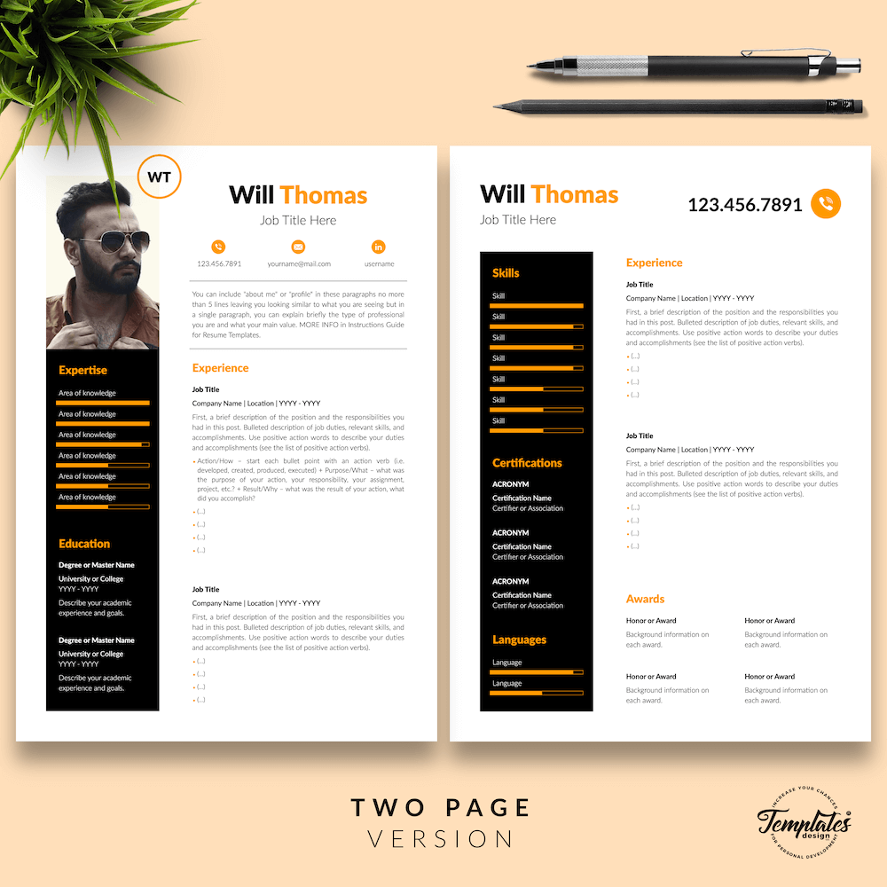 Resume CV for Health Coach - Will Thomas 03 - Two Page Version - New version