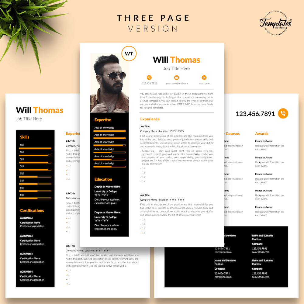 Resume CV for Health Coach - Will Thomas 04 - Three Page Version - New version