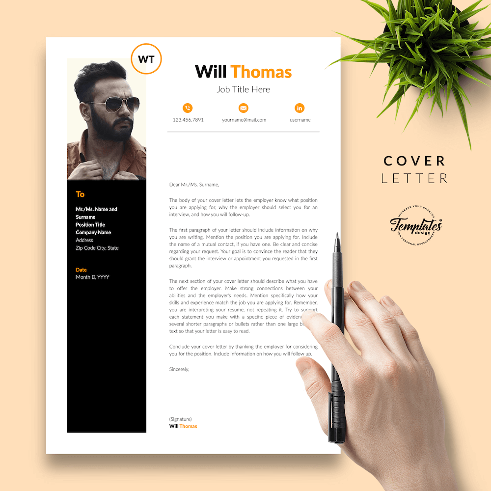 Resume CV for Health Coach - Will Thomas 05 - Cover Letter - New version