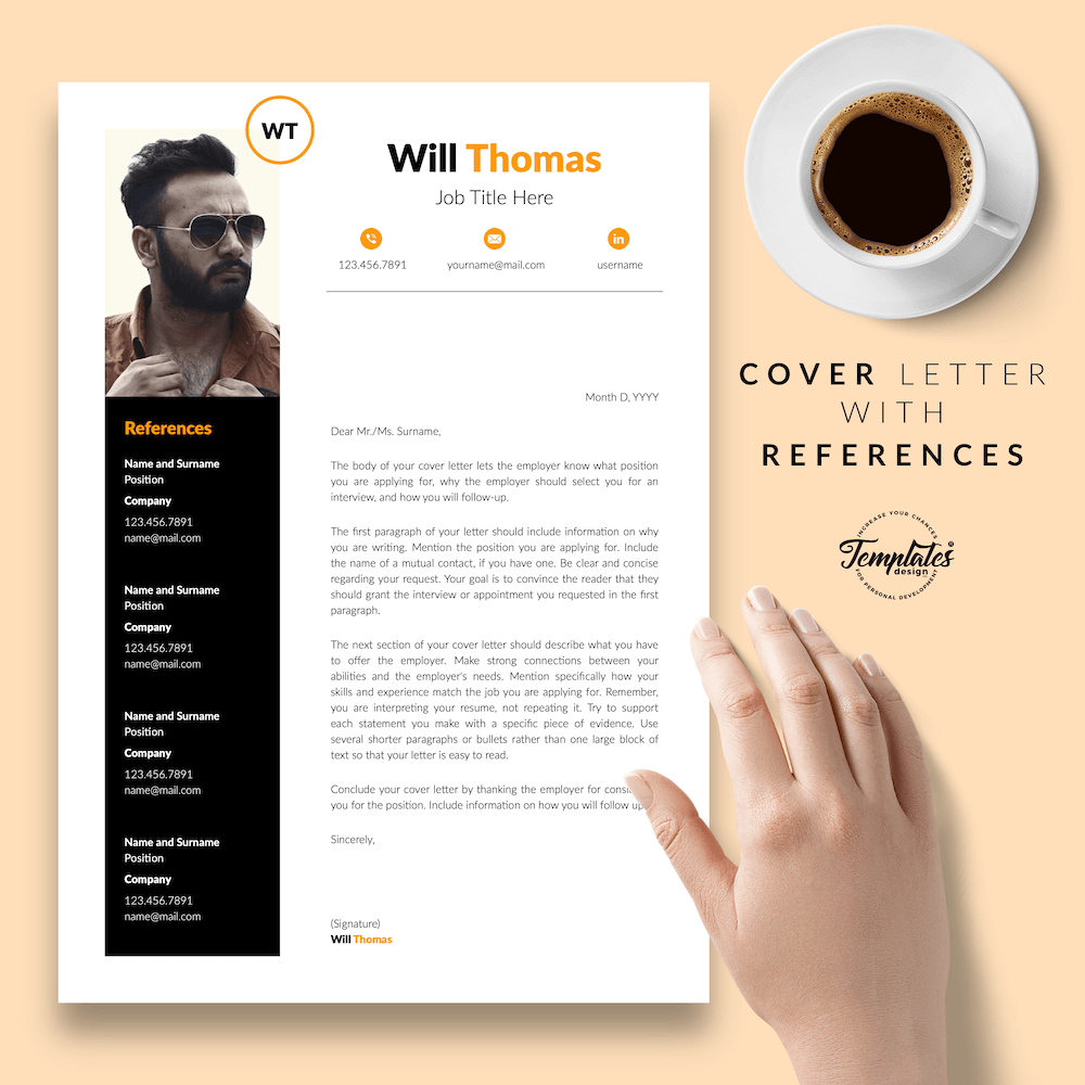 Resume CV for Health Coach - Will Thomas 07 - Cover Letter with References - New version