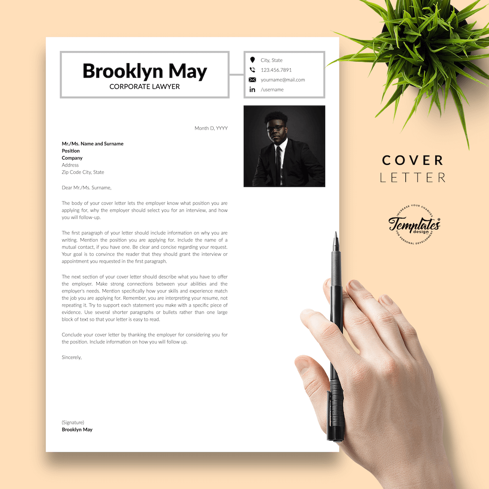 Corporate Lawyer Resume - Brookyn May 05 - Cover Letter - New version