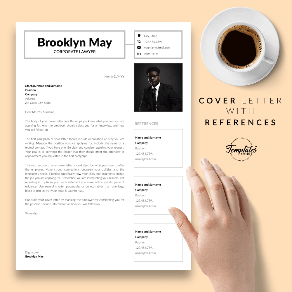 Corporate Lawyer Resume - Brookyn May 07 - Cover Letter with References - New version