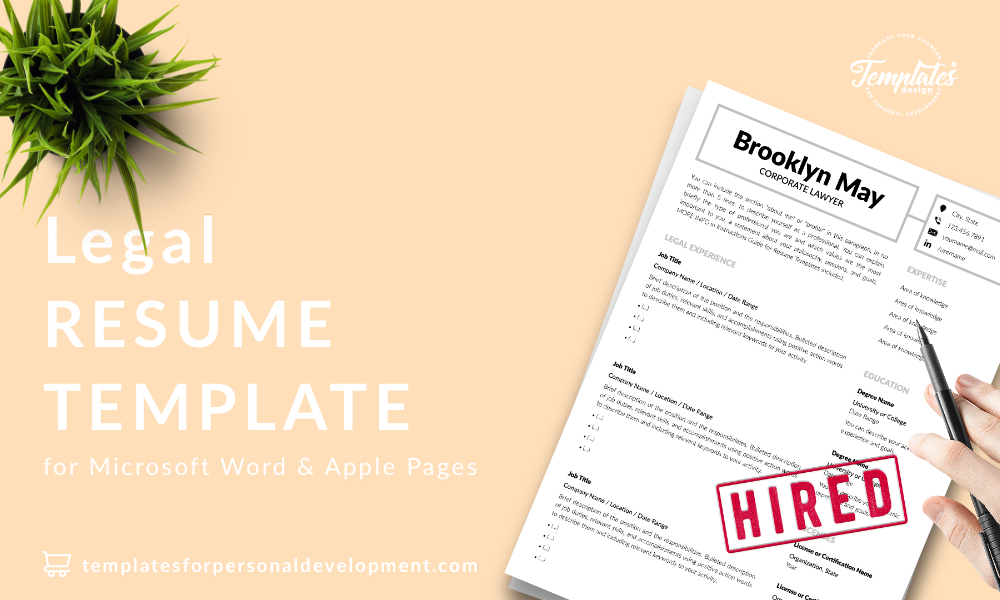 Resume CV Template : Brookyn May 22 - Post - New version