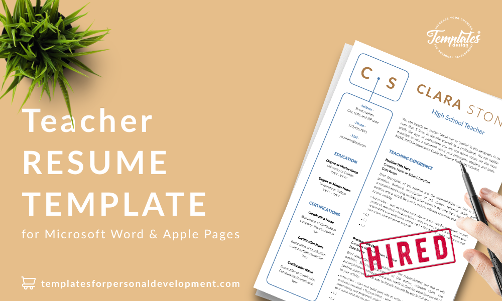 Resume CV Template : Clara Stone 22 - Post - New version