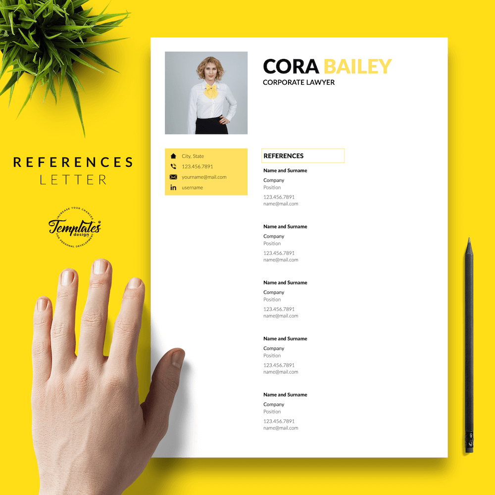 Lawyer Resume Template - Cora Bailey 06 - References - New version