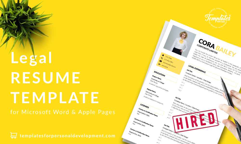 Resume CV Template : Cora Bailey 22 - Post - New version
