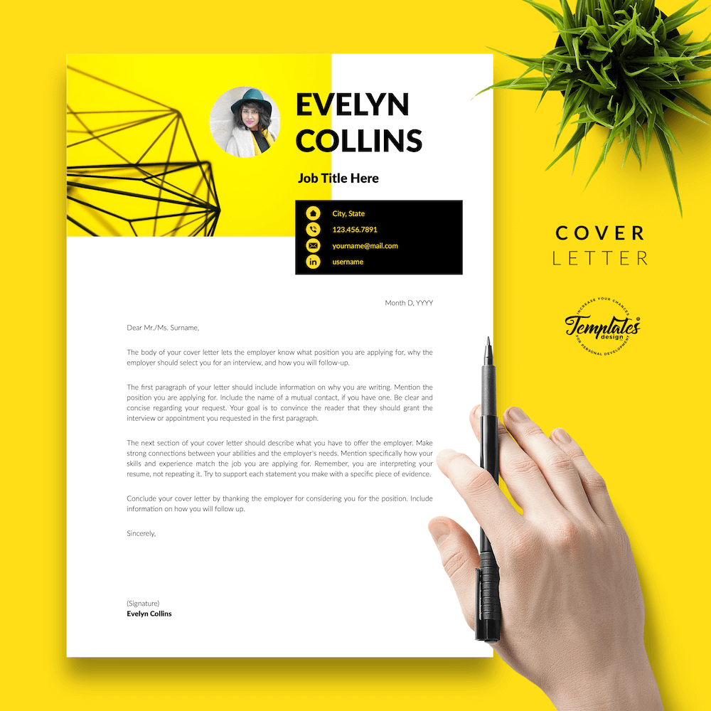 Modern Resume for Engineer - Evelyn Collins 05 - Cover Letter - New version