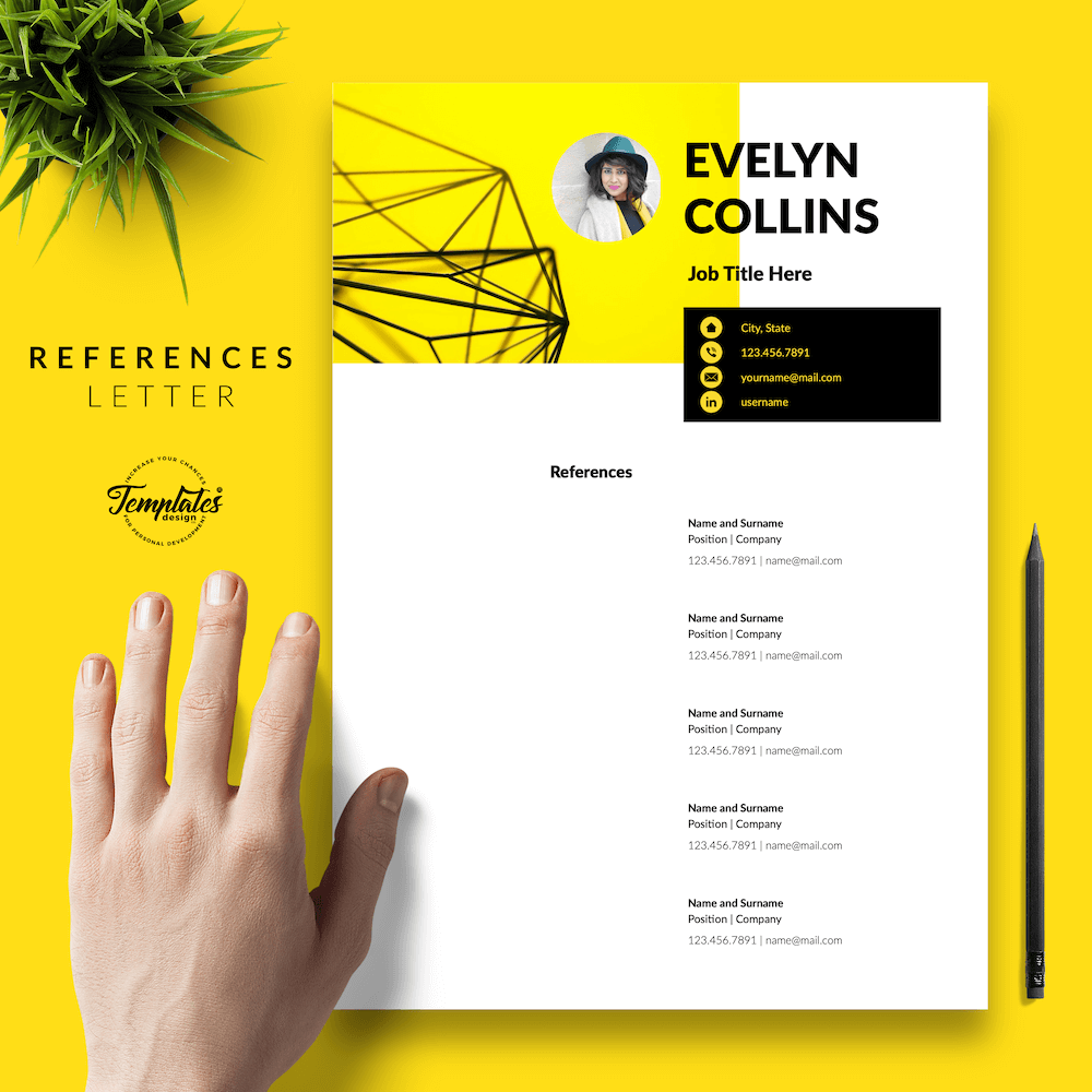 Modern Resume for Engineer - Evelyn Collins 06 - References - New version