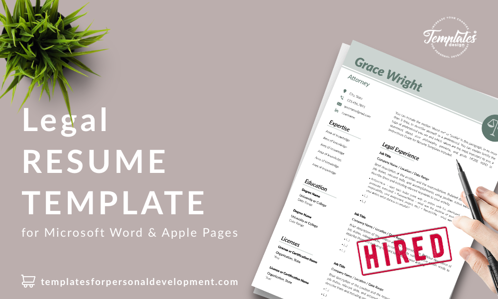Resume CV Template : Grace Wright 22 - Post - New version