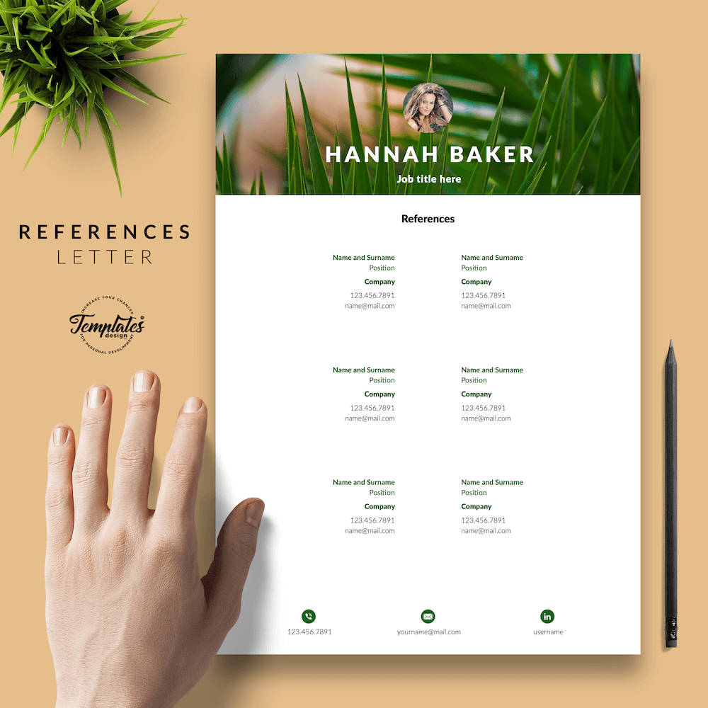 Resume for Nature Jobs - Hannah Baker 06 - References - New version