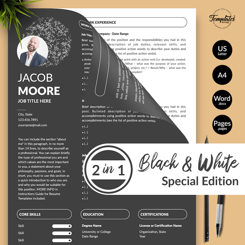 Creative Resume for Finance - Jacob Moore (2in1 Special Edition) 01 - Presentation - New version