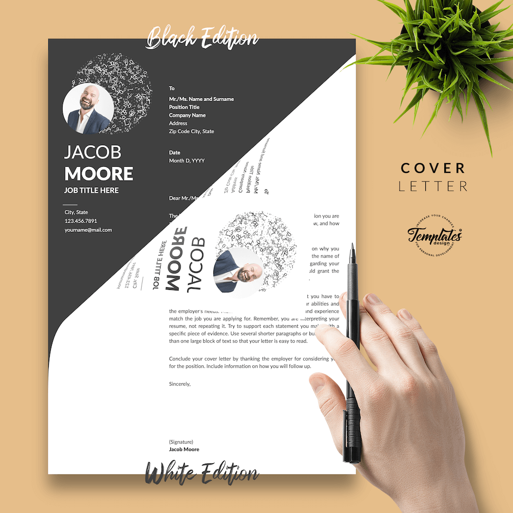 Creative Resume for Finance - Jacob Moore (2in1 Special Edition) 05 - Cover Letter - New version