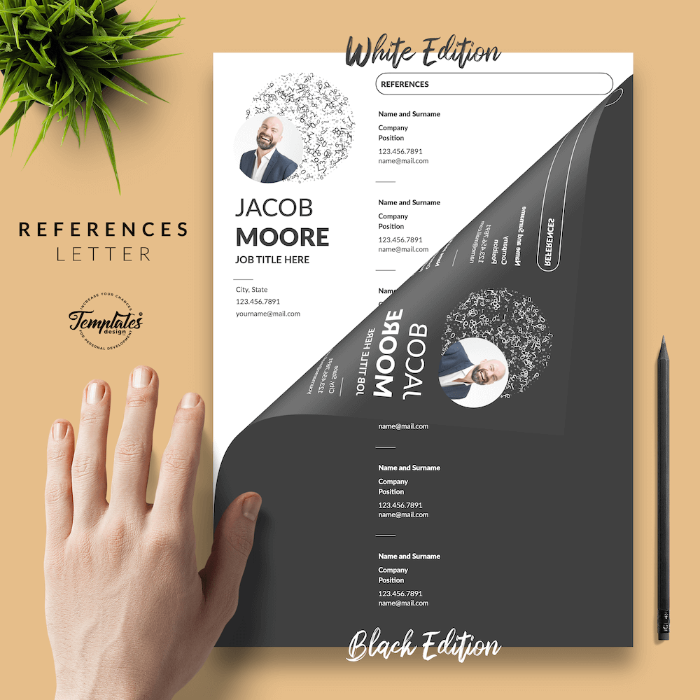 Creative Resume for Finance - Jacob Moore (2in1 Special Edition) 06 - References - New version