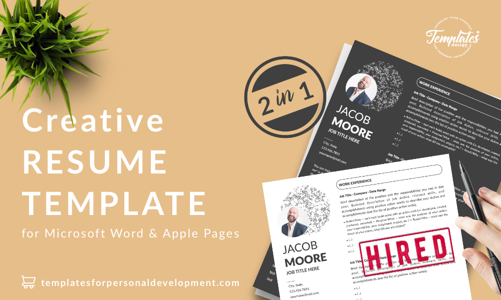 Resume CV Template - Jacob Moore (2in1 Special Edition) 22 - Post - New version