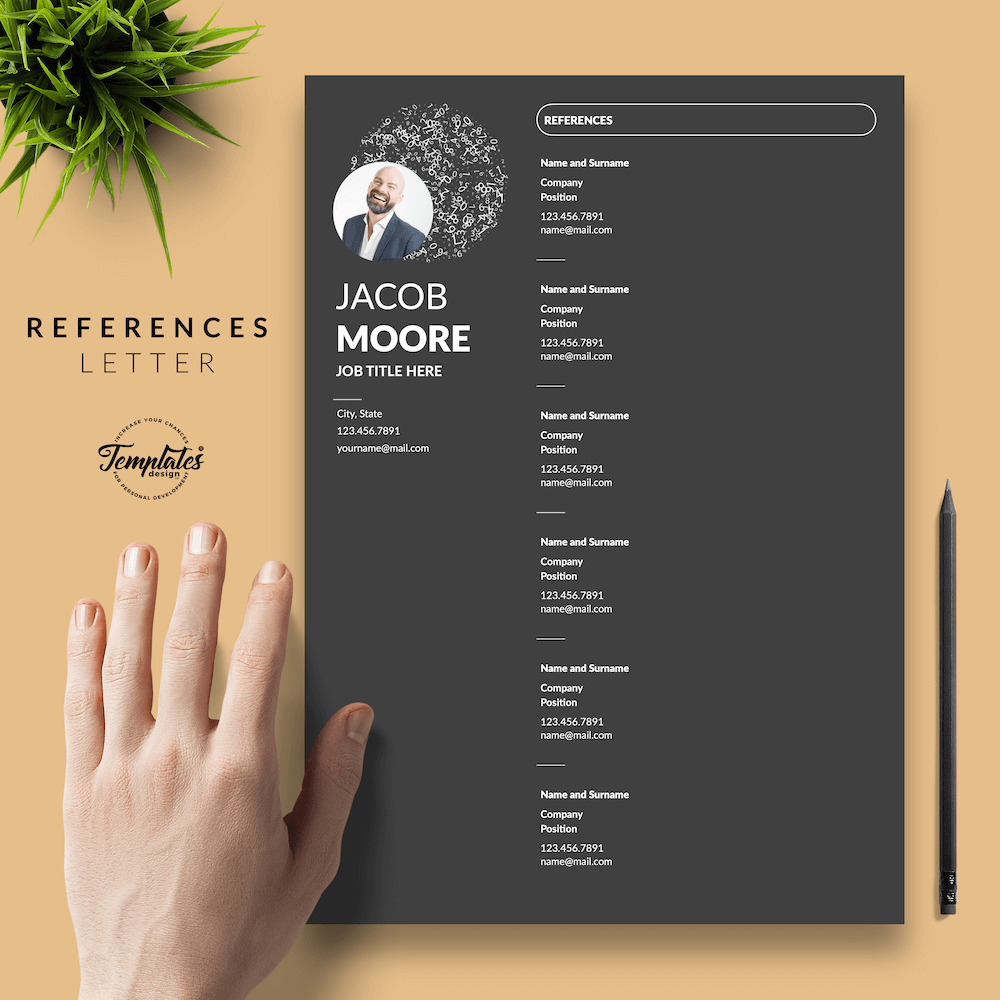Creative Resume for Finance - Jacob Moore (Black Edition) 06 - References - New version