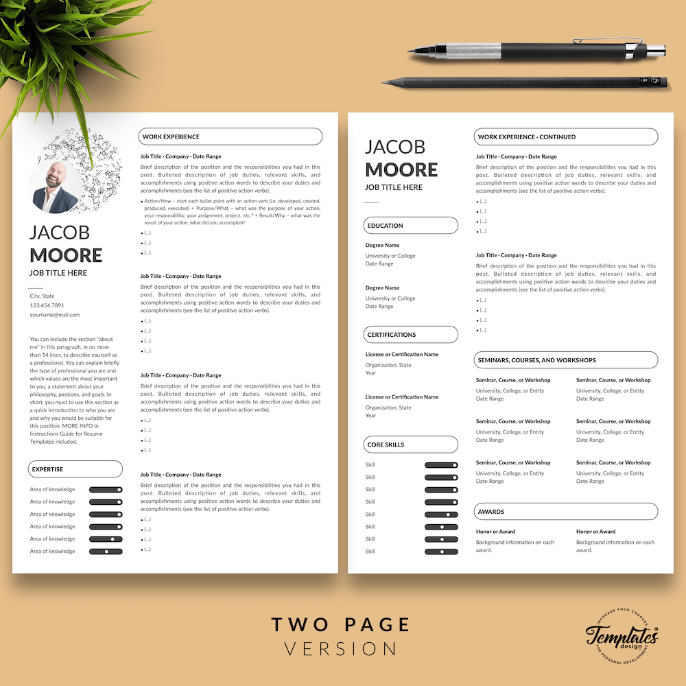 Creative Resume for Finance - Jacob Moore (White Edition) 03 - Two Page Version - New version