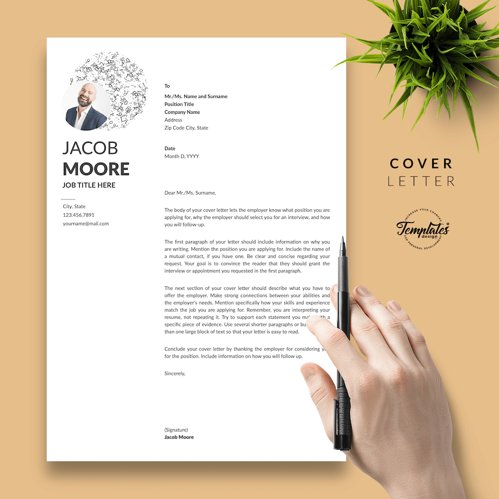 Creative Resume for Finance - Jacob Moore (White Edition) 05 - Cover Letter - New version