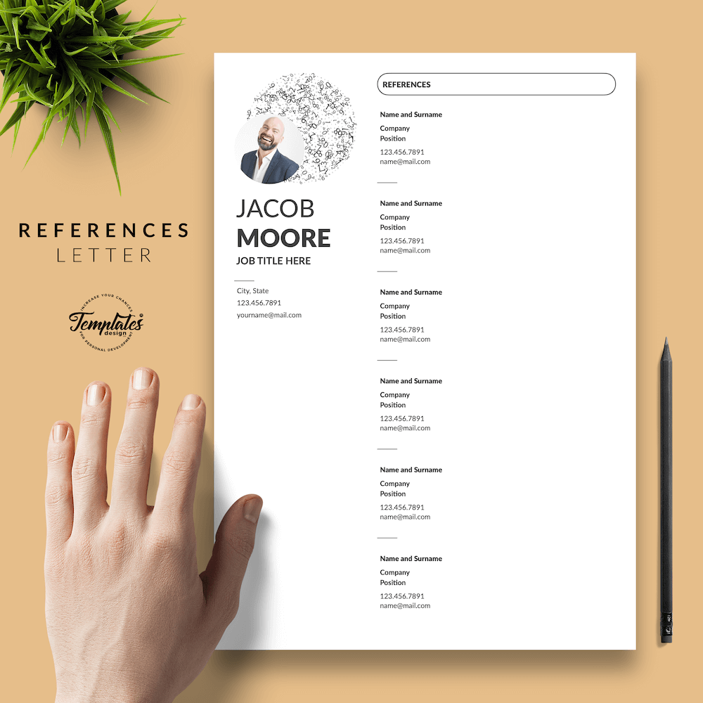 Creative Resume for Finance - Jacob Moore (White Edition) 06 - References - New version