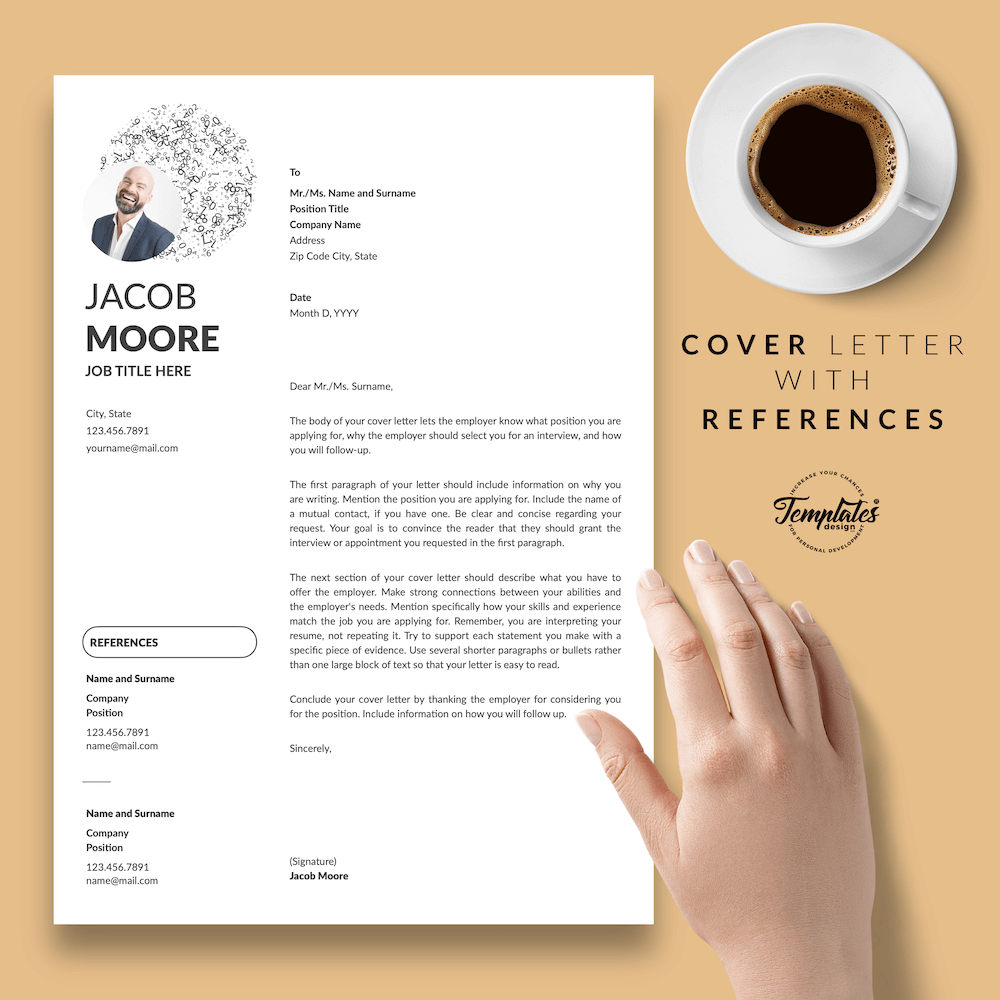 Creative Resume for Finance - Jacob Moore (White Edition) 07 - Cover Letter with References - New version