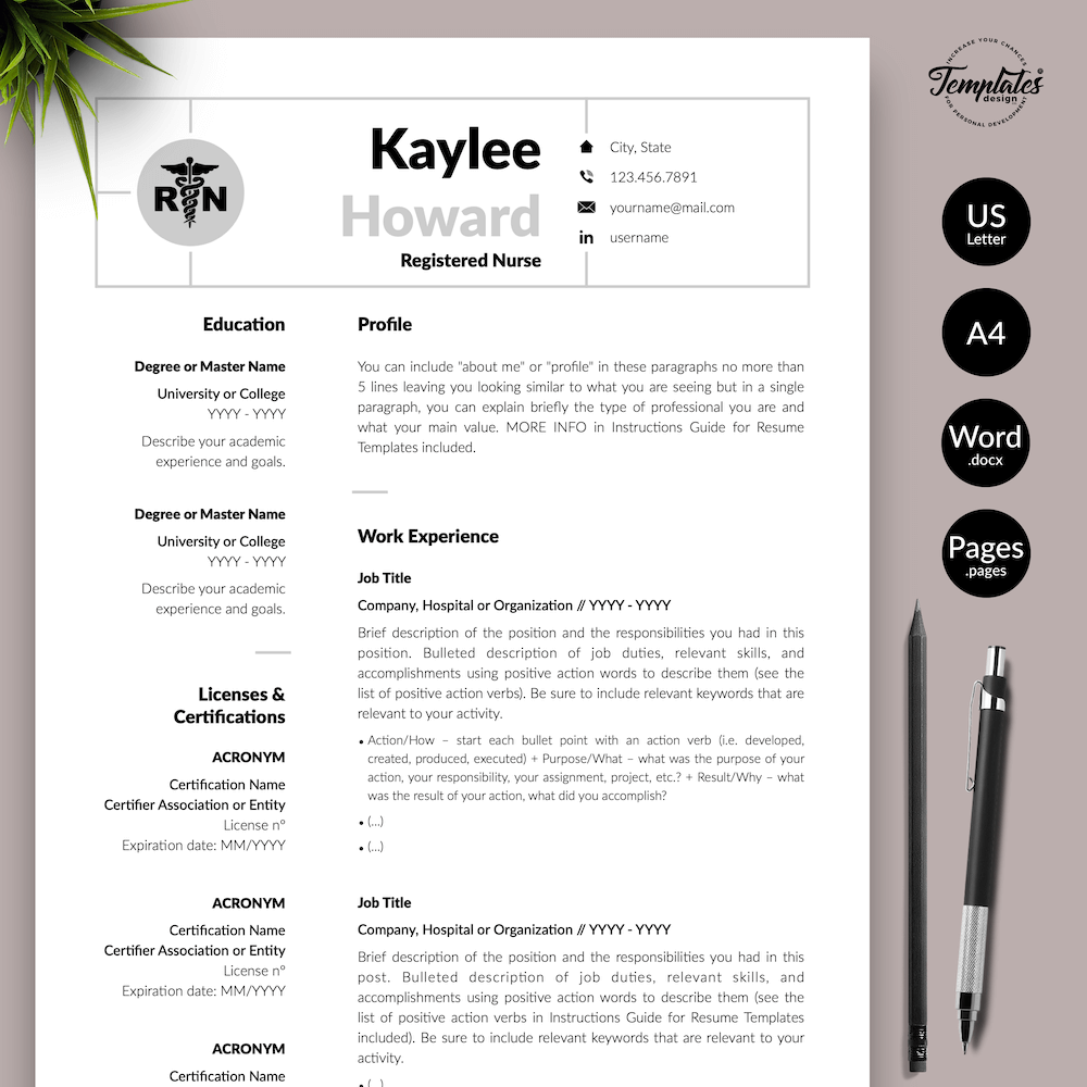 Nursing Resume Template - Kaylee Howard 01 - Presentation - New version