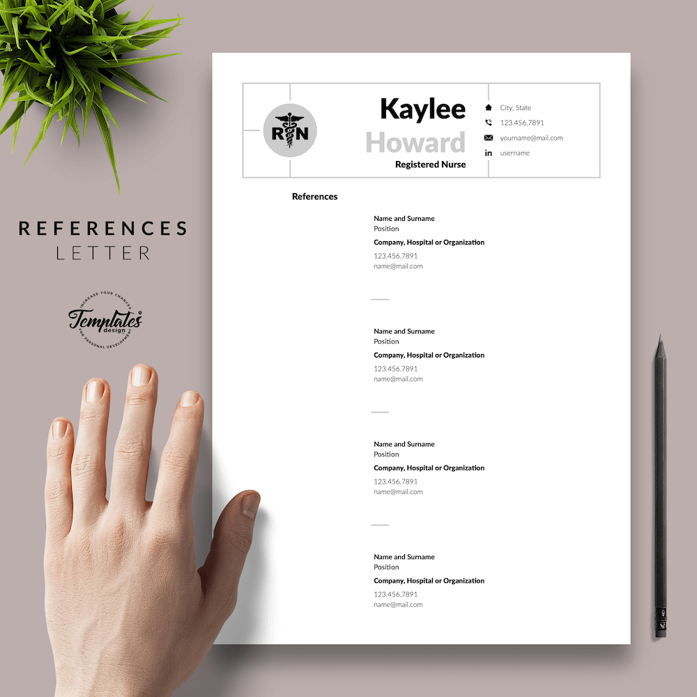 Nursing Resume Template - Kaylee Howard 06 - References - New version