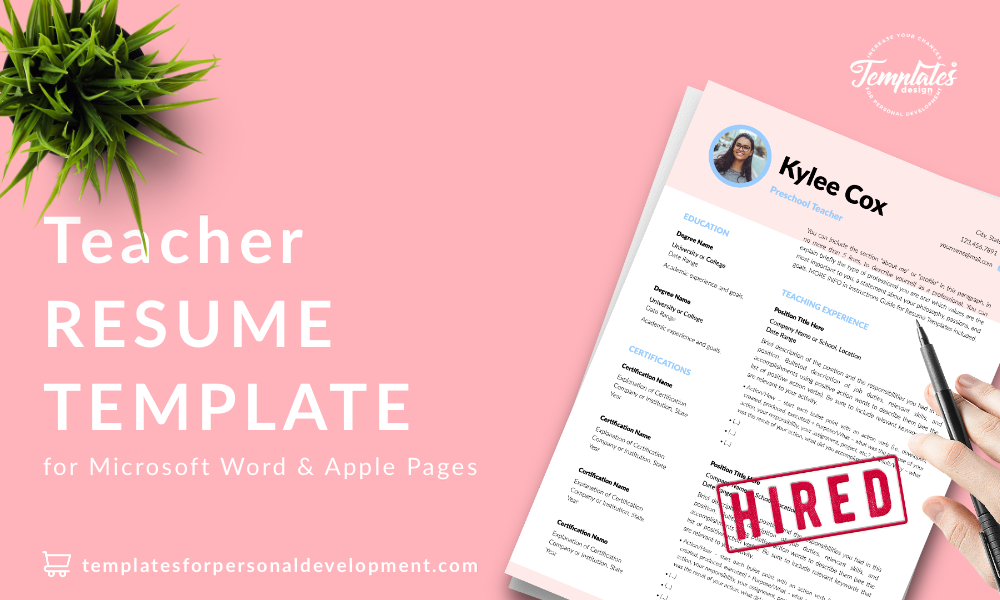 Resume CV Template : Kylie Cox 22 - Post - New version