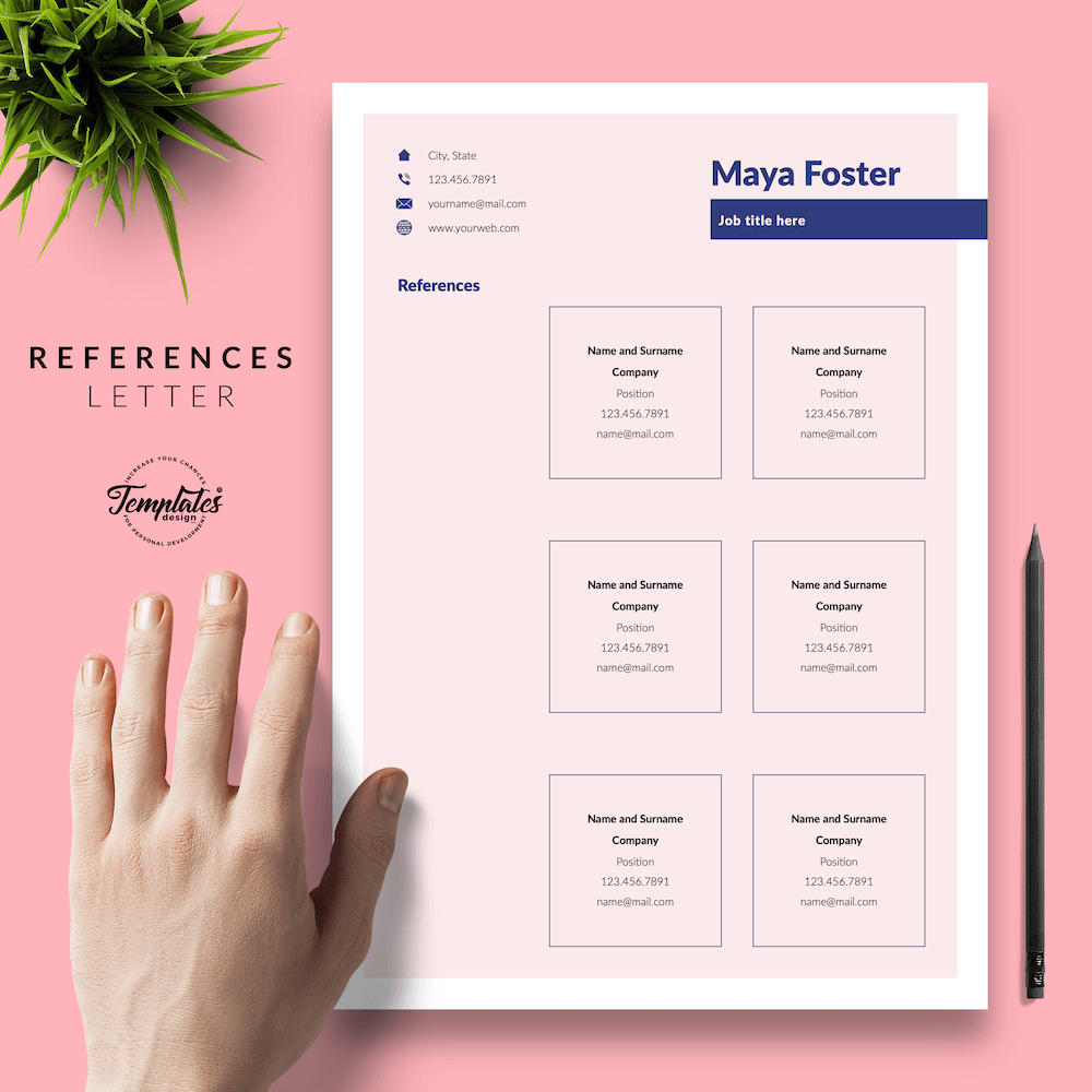Fashion Jobs Resume Template - Maya Foster 06 - References - New version