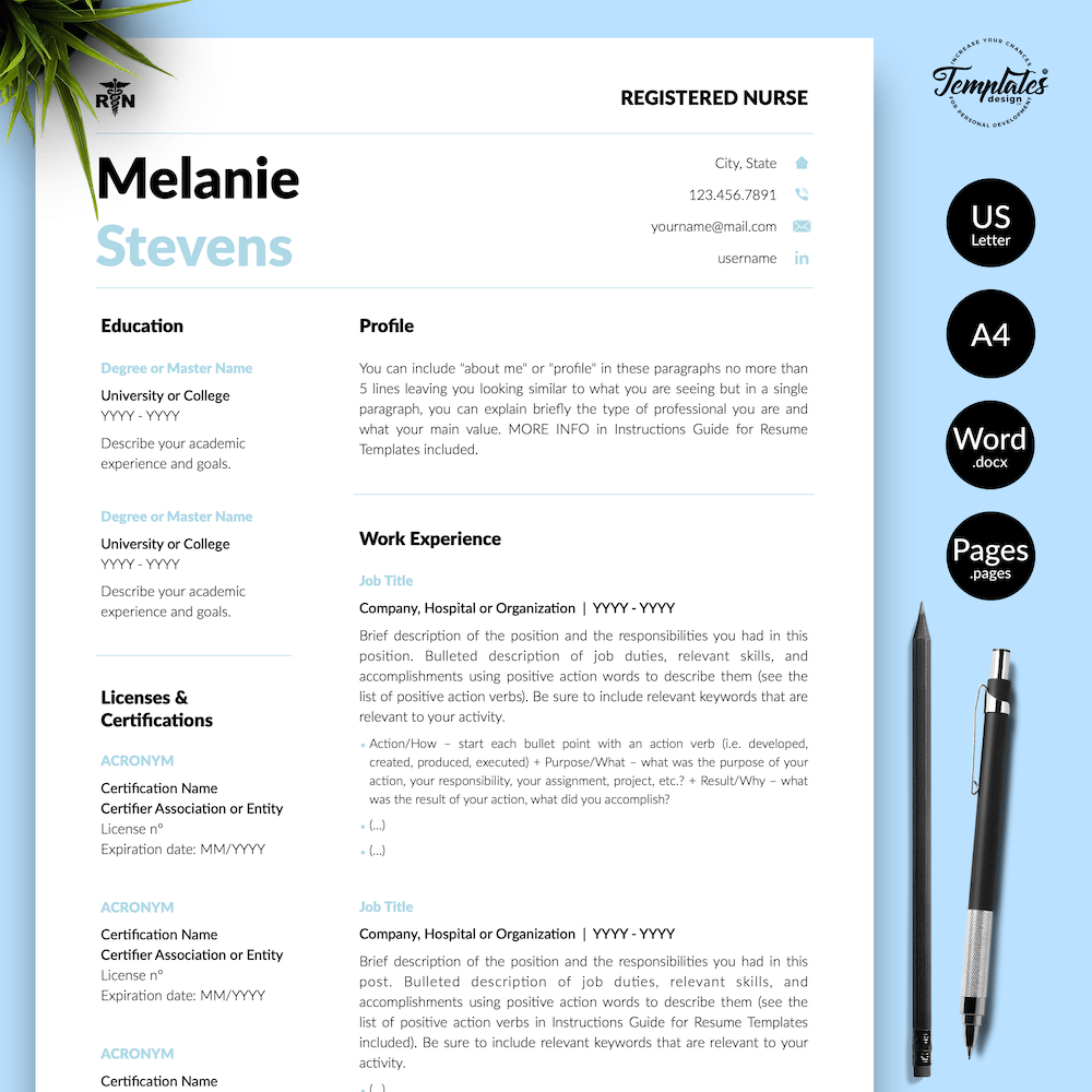 Nurse Resume Format - Melanie Stevens 01 - Presentation - New version