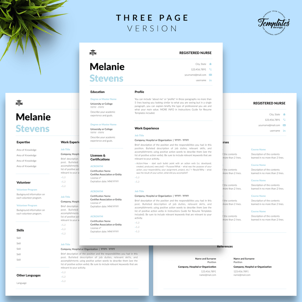 Nurse Resume Format - Melanie Stevens 04 - Three Page Version - New version