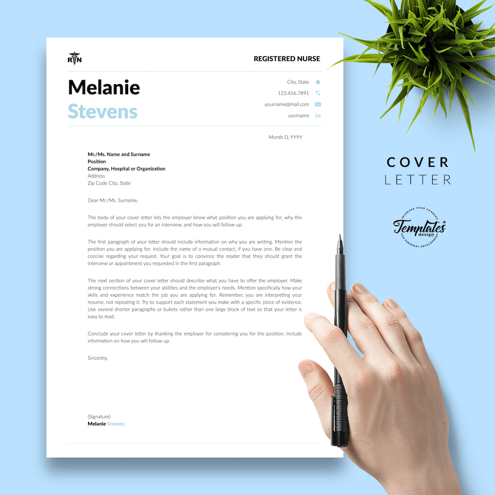 Nurse Resume Format - Melanie Stevens 05 - Cover Letter - New version
