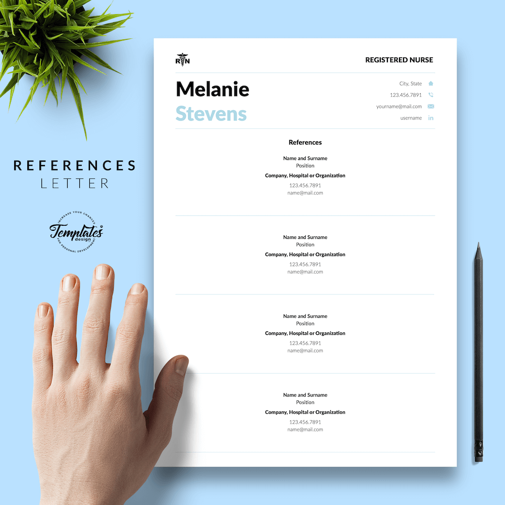 Nurse Resume Format - Melanie Stevens 06 - References - New version