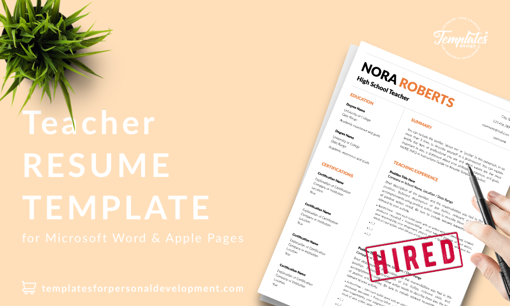 Resume CV Template : Nora Roberts 22 - Post - New version