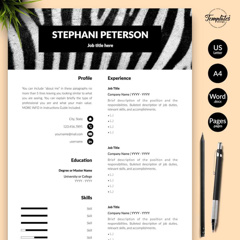 Animal Care CV Template - Stephani Peterson 01 - Presentation - New version