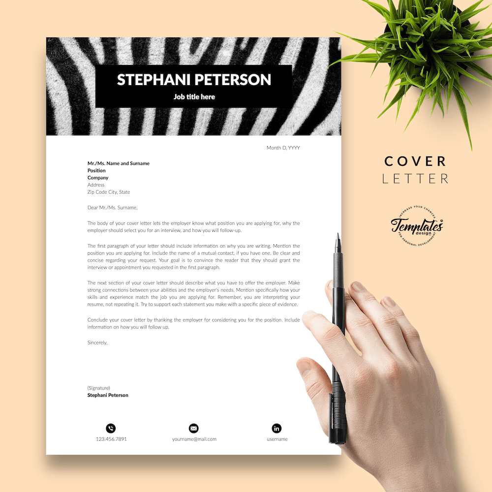 Animal Care CV Template - Stephani Peterson 05 - Cover Letter - New version