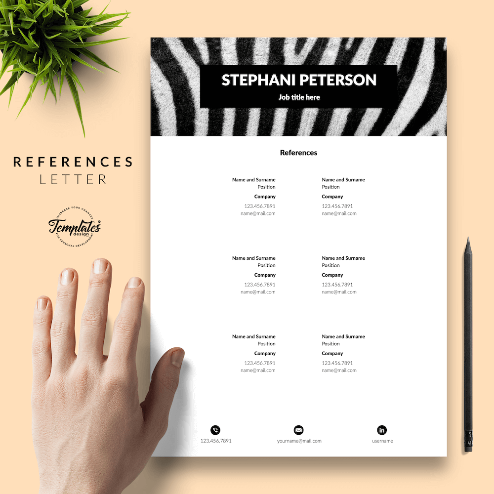 Animal Care CV Template - Stephani Peterson 06 - References - New version